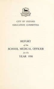 Cover of: [Report 1950] | Oxford (England). City Council. no2012034102