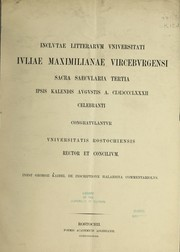 Cover of: De inscriptione Halaesina commentariolus