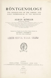 Cover of: Röntgenology | Alban KГ¶hler