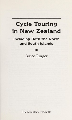Cycle touring in New Zealand by J. B. Ringer