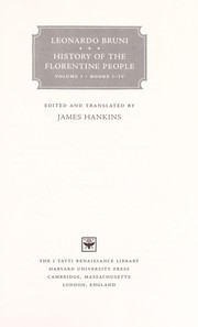 Cover of: History of the Florentine people