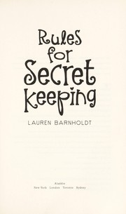 Cover of: Rules for secret keeping