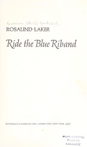 Cover of: Ride the blue riband