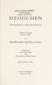 Cover of: Dzogchen: The Heart Essence of the Great Perfection