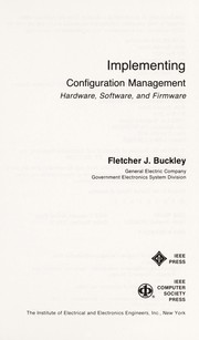 Cover of: Configuration management