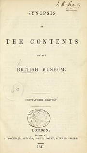 Cover of: Synopsis of the contents of the British Museum | British Museum