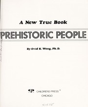 Cover of: Prehistoric people | Ovid K. Wong