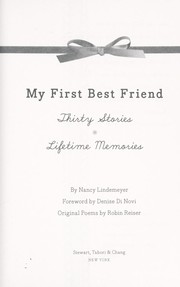 Cover of: My first best friend | Nancy Lindemeyer