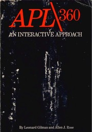 Cover of: APL/360; an interactive approach