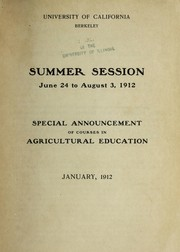 Cover of: Summer session, June 24 to August 3, 1912