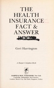 Cover of: The health insurance fact & answer book