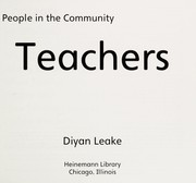 Cover of: Teachers | Diyan Leake