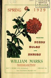 Cover of: Selected seeds, bulbs and shrubs | William Marks (Firm)