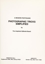 Cover of: Photographic tricks simplified | Amphoto Editorial Board.