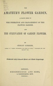 Cover of: The amateur's flower garden