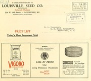Cover of: Price list | Louisville Seed Company