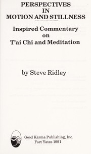 Cover of: Perspectives in Motion and Stillness | Steve Ridley
