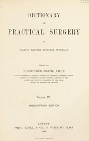 Cover of: Dictionary of practical surgery