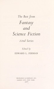 Cover of: The Best From Fantasy and Science Fiction 22nd Series