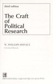 Cover of: The craft of political research | W. Phillips Shively