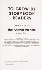 Cover of: The Animal Trainers (To Grow By Storybook Readers, Series B, Book 13) |