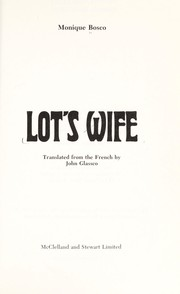 Cover of: Lot's wife