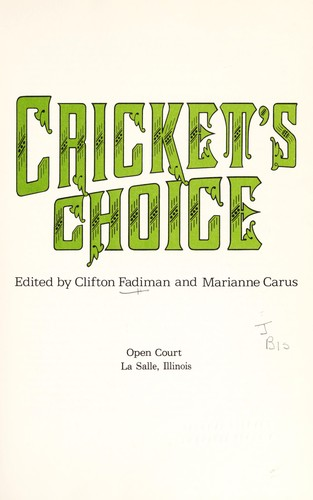 Cricket's choice by Clifton Fadiman