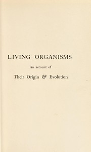 Cover of: Living organisms