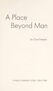 Cover of: A place beyond man