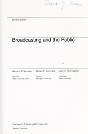Cover of: Broadcasting and the public