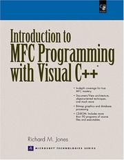 Cover of: Introduction to MFC Programming with Visual C++ | Richard M. Jones