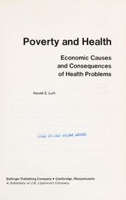 Cover of: Poverty and health