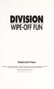 Cover of: Division Wipe Off Fun |