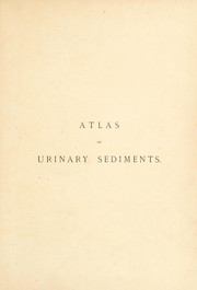 Cover of: Atlas of urinary sediments | Hermann Rieder