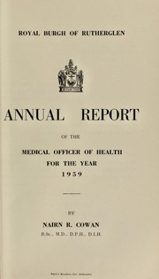 Cover of: [Report 1959] | Rutherglen (Scotland). Royal Burgh Council