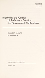 Cover of: Improving the quality of reference service for government publications