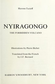 Cover of: Nyiragongo, the forbidden volcano | Haroun Tazieff