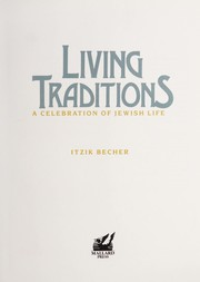 Cover of: Living traditions | Itzik Becher