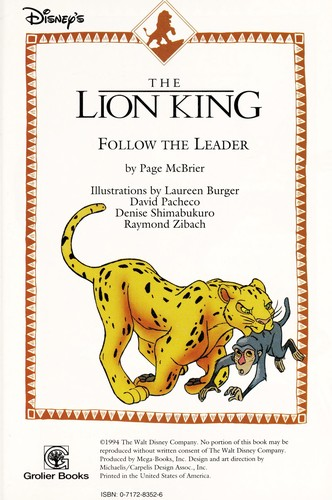 Follow the leader (Disney's the Lion King) by Page McBrier