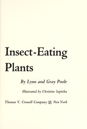 Cover of: Insect-eating plants | Lynn Poole