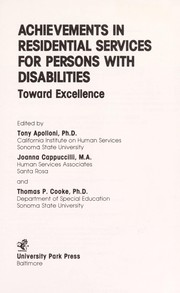 Cover of: Achievements in residential services for persons with disabilities |