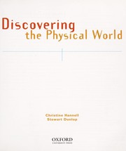 Cover of: Discovering the physical world