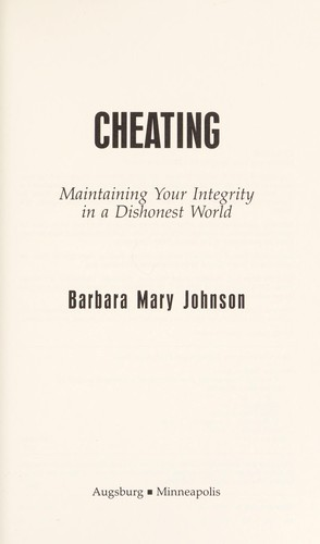Cheating by Barbara Mary Johnson