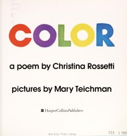 Color by Christina Georgina Rosetti