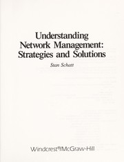 Cover of: Understanding network management