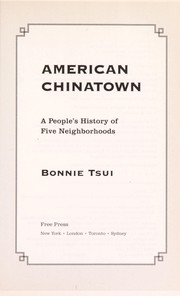 Cover of: American Chinatown | Bonnie Tsui