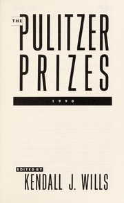 Cover of: The Pulitzer prizes 1990 |