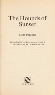 Cover of: The hounds of sunset