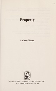 Cover of: Property | Andrew Reeve