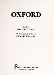 Cover of: Oxford | Hall, Michael